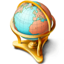 Globe with golden stand