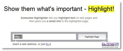 highlight text with yellow mark