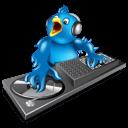 twitter bird D.J music