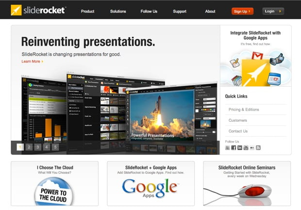 Online power point Slide rocket