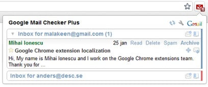 Gmail checker extension for chrome