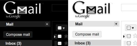 gmail theme black&white