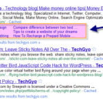 TechGyo.com Got Sitelinks on Google Search Results