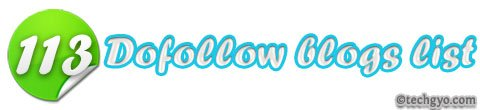 113 dofollow blogs list