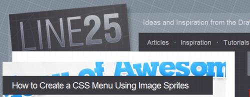 line 25 tutorial on CSS Menu