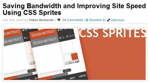 saving bandwidth improving site speed using css sprites