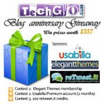 (TechGyo Anniversary Giveaway! ) Retweet & Comment to Win Elegant Premium WordPress Theme Membership