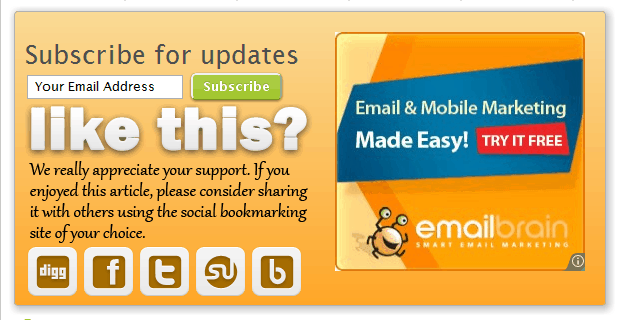 emailbrain email and mobile marketing adsense blending