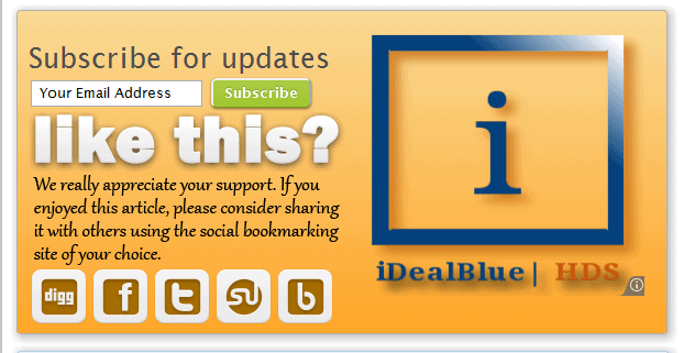 idealblue ad blending with my background