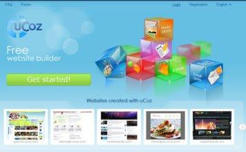 ucoz.com web page maker