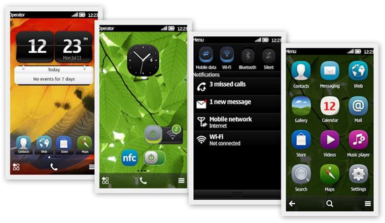 symbian belle user interface