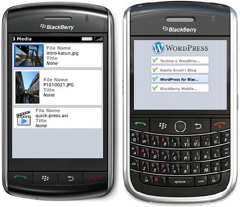 wordpress for blackberry productivity