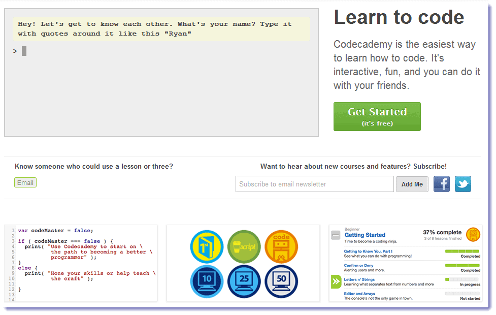 Codecademy interface techgyo review