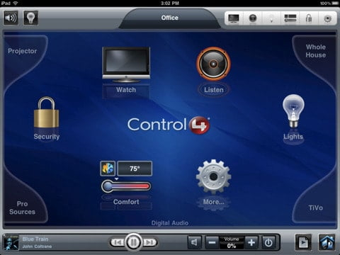 control4 my home apps