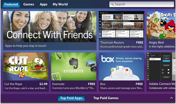 BlackBerry PlayBook Apps