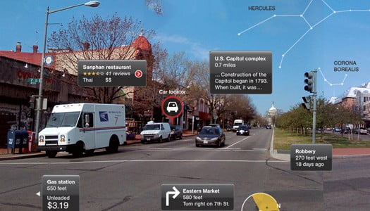Google AR Glasses GPS