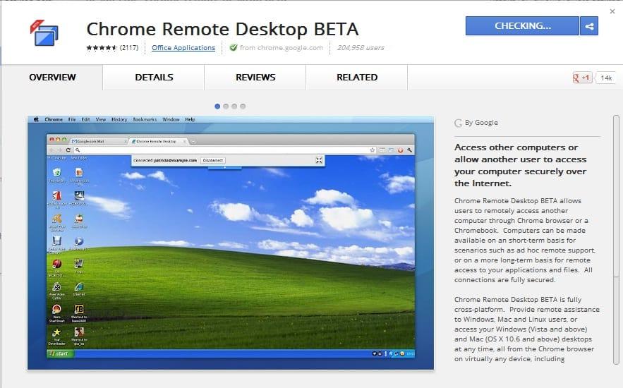 Chrome Remote Desktop BETA-Overview