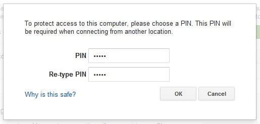 Chrome Remote Desktop-PIN