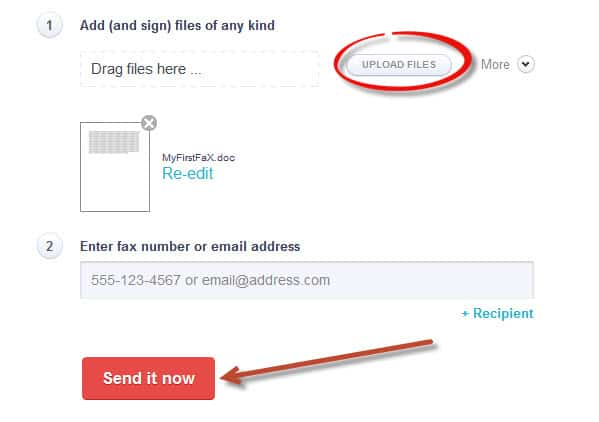 send email to a fax machine