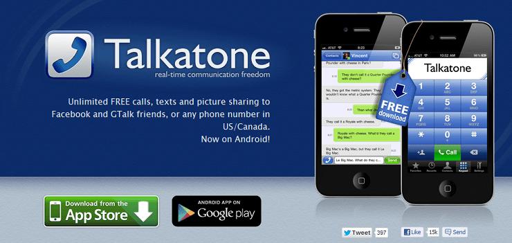 Talkatone- Website Screenshot