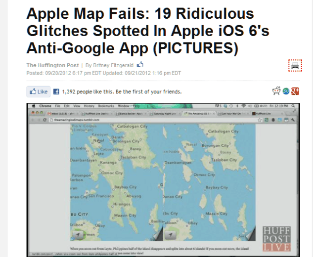 Apple Map Fails  Glitches In Apple iOS 6