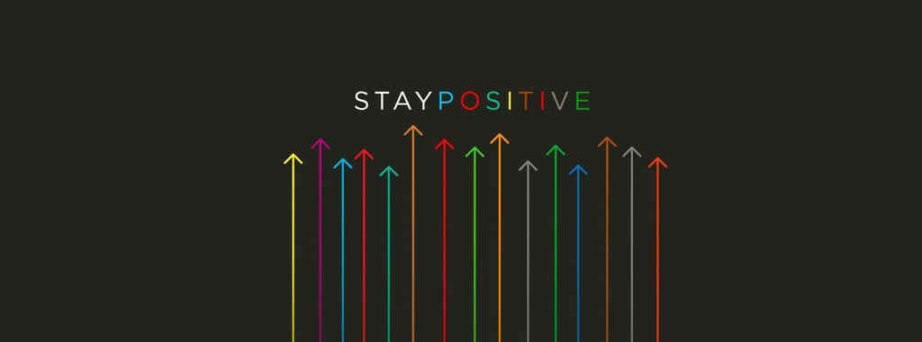 Stay positive Facebook cover