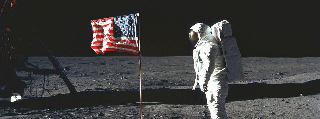 U.S Flag on Moon