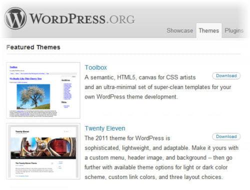 free wordpress templates