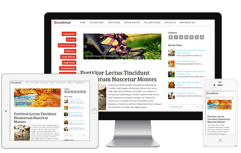 sensational responsive wordpress theme