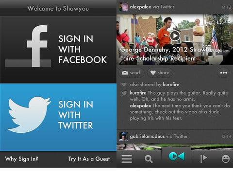 Showyou: a Great Social Video app for your iPhone and iPad 1