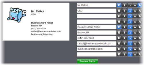 businesscardrobot