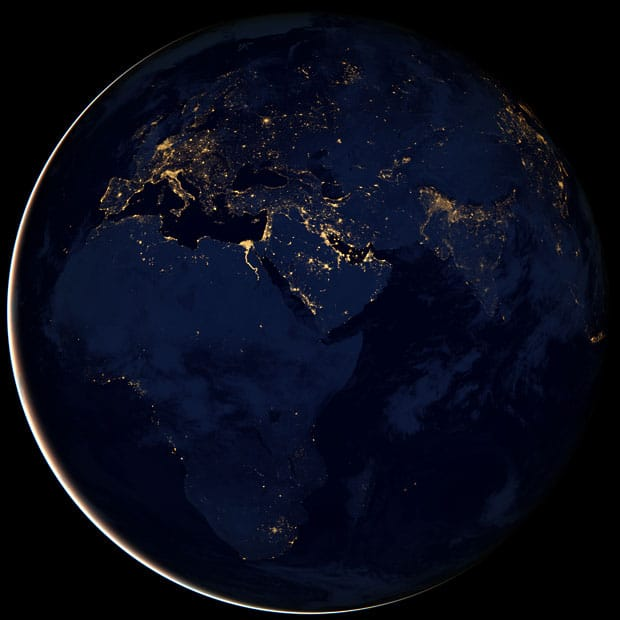 """Amazing images of the """"Black Marble"""" view of the Earth at night released by NASA 1"""