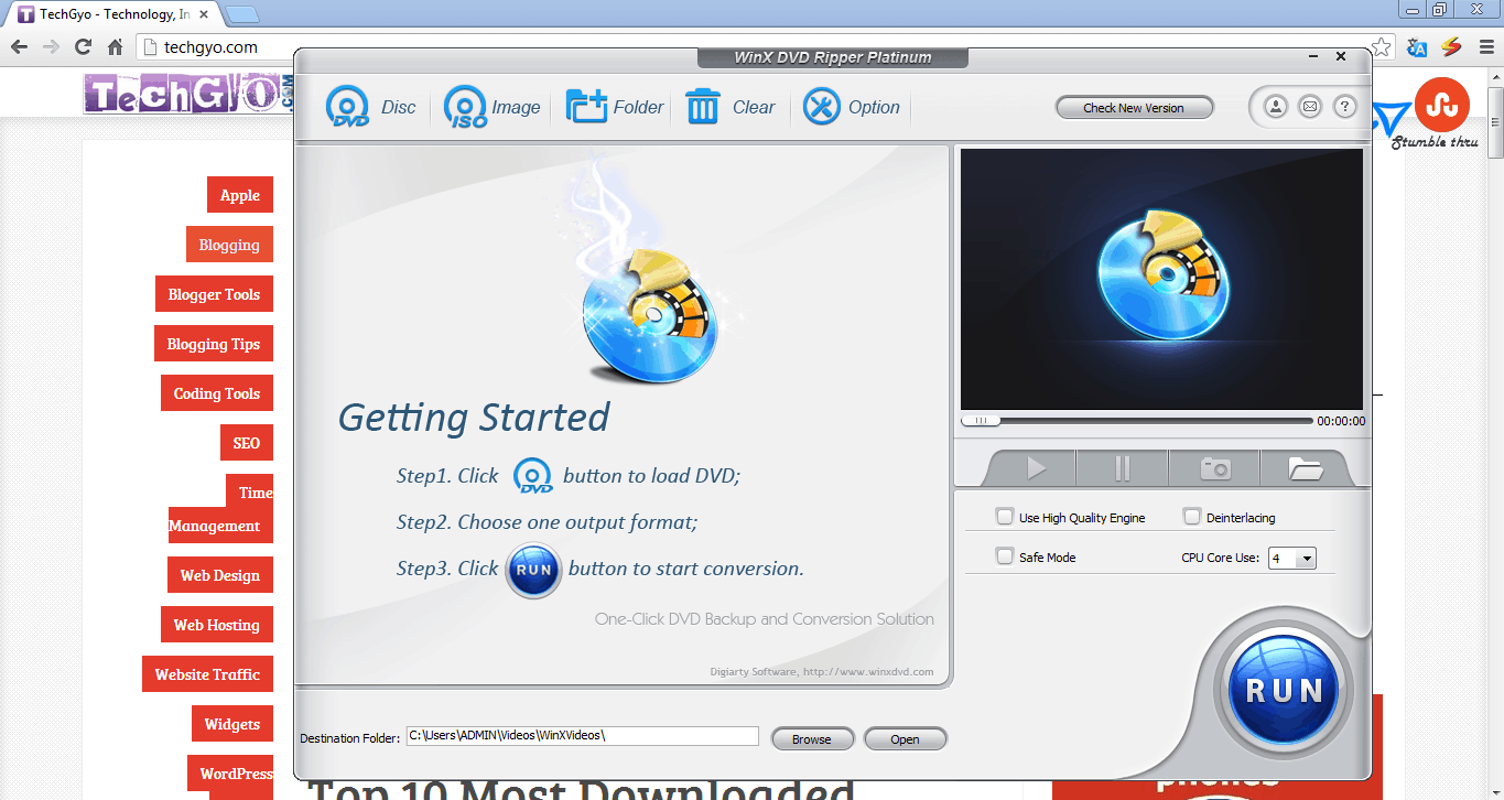 Review: WinX DVD Ripper Platinum 1