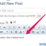 Add Custom Default Text in WordPress Post Editor