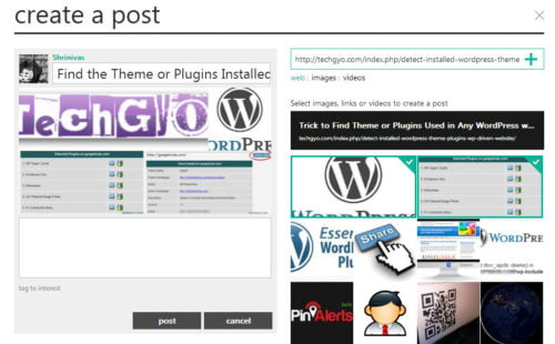how to create post in socl