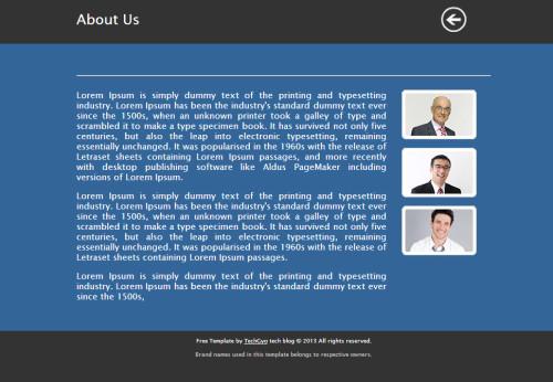 Metro UI HTML Template 2