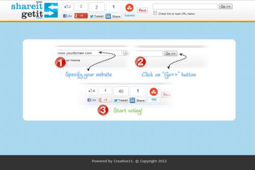 Shareitgetit Social Media Optimization toolbar