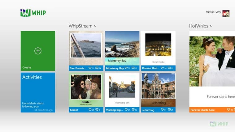 Whip App on Windows 8