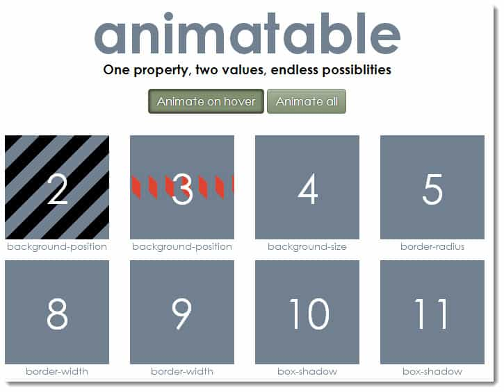 animateble animation library