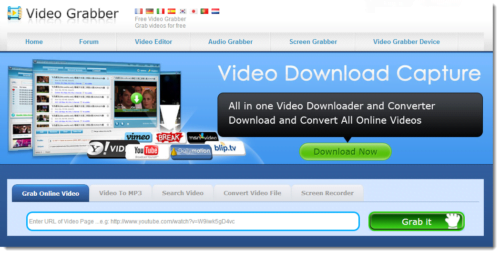 Video Grabber- Free online youtube video grabber download tool