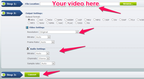 Free Online Video Converter tool