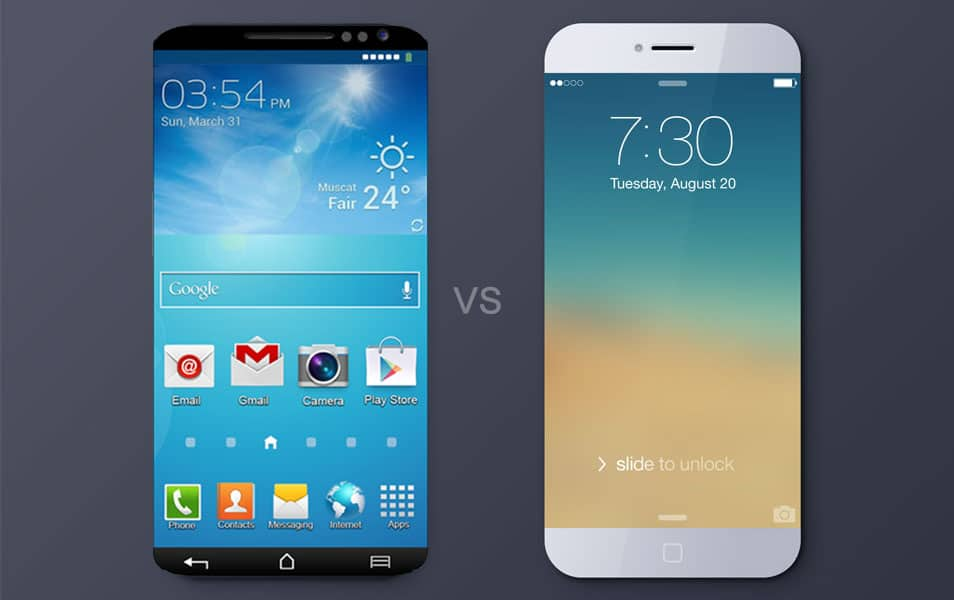 iPhone 6 and the Galaxy S6 Compare
