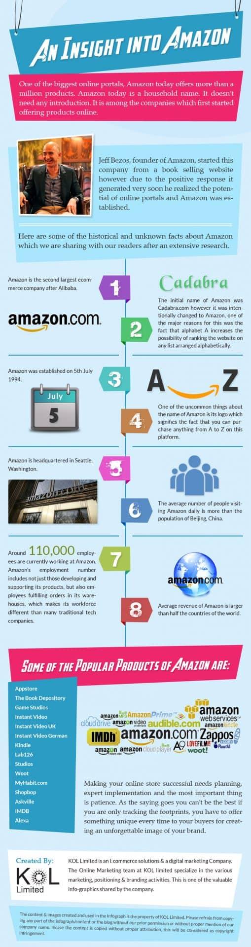 Infographic on  Amazon