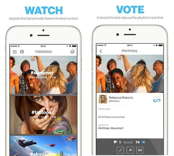 videoo app for interact with fan base