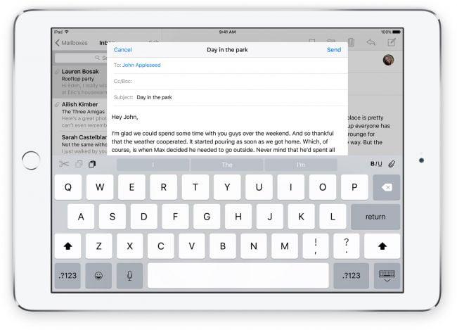apple keyboard ios 9