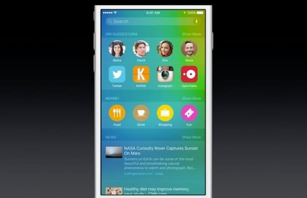 apple spotlight search siri ios 9
