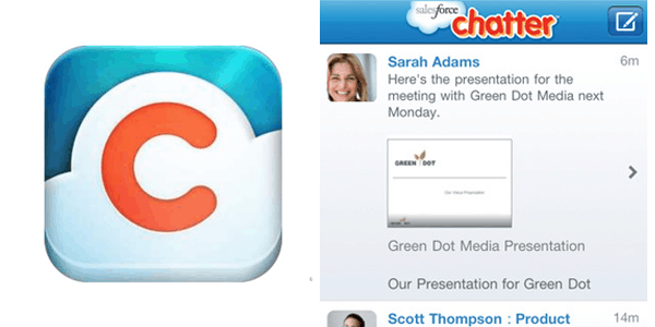 chatter by salesforce Enterprise Mobile Apps
