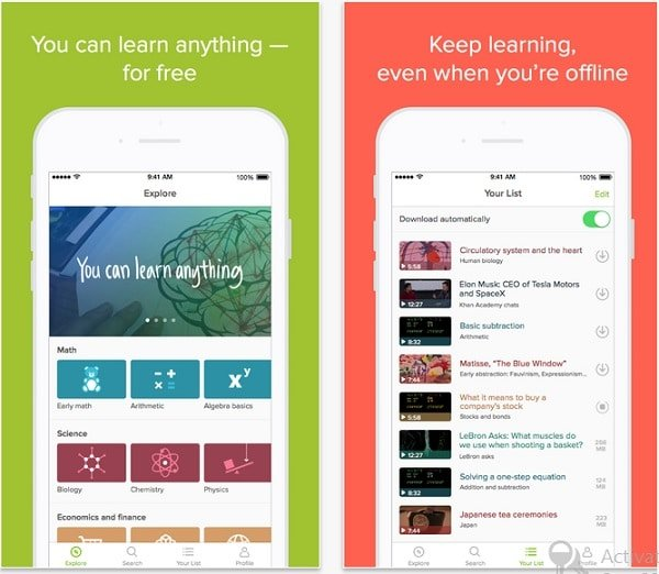 best apps to learn anything online khan academy