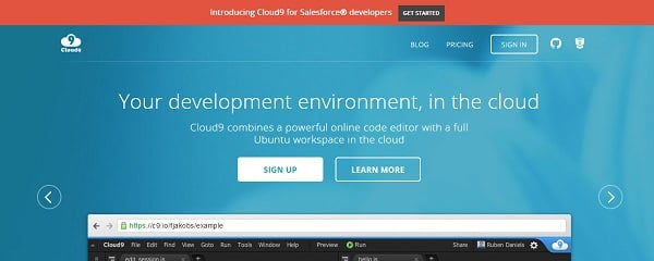 cloud9 cloud tools for web designers and developers