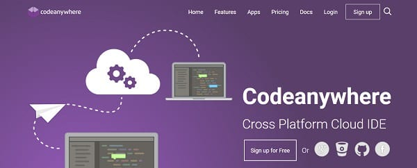 codeanywhere cloud tools for web designers and developers